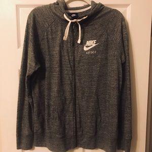 Nike hoodie jacket, women's XL